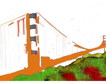 P26 - San Francisco Golden Gate Bridge Postcard