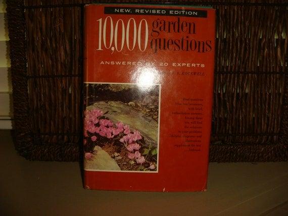 1959  10,000 Garden Questions answered Gardening Diagrams Illustrations Survival Gardens Soil