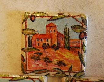 Spanish Colorful Custom Made Ceramic Tile Coasters set of 4 or more