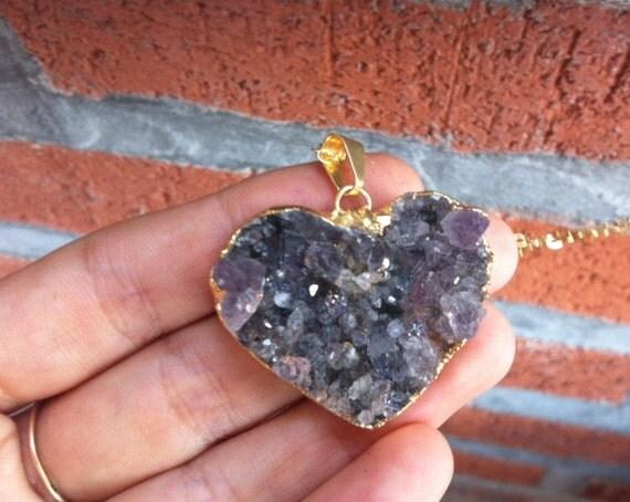 Heart Quartz Necklace - Lolita
