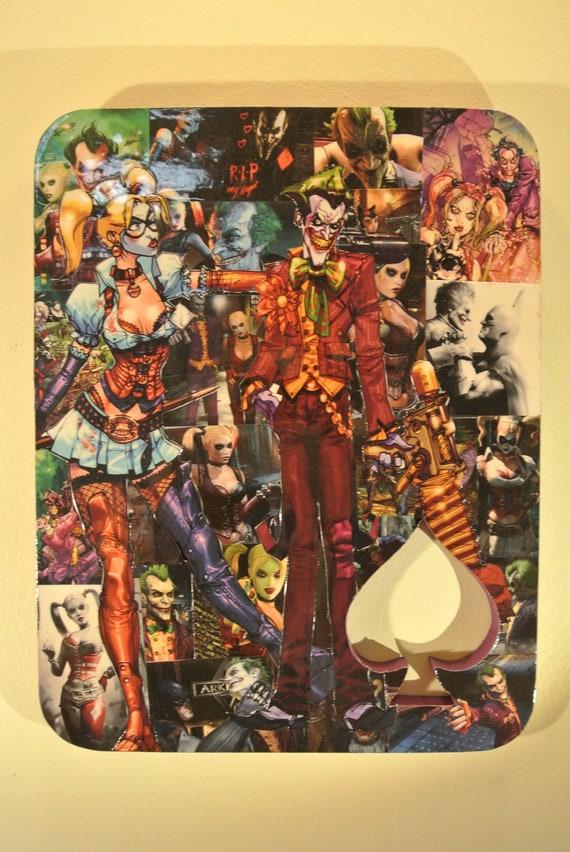Harley and Joker Plaque reserved for Megan Bryan (elionwy18)