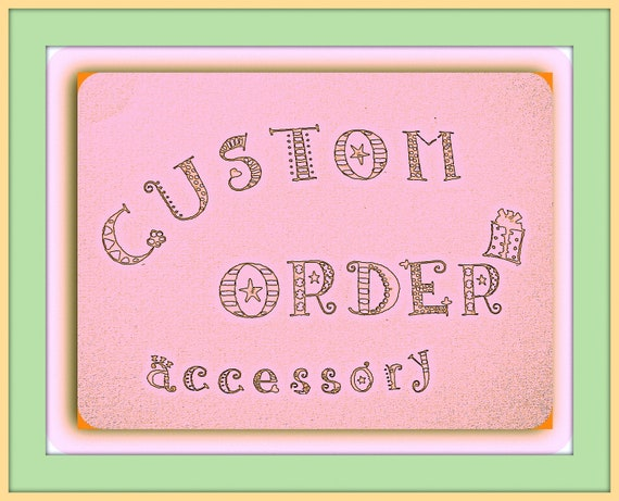 Custom Order for Maria M