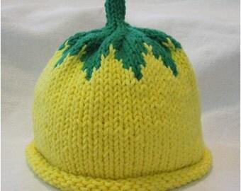 Hand Knitted Lemon Hat