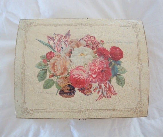 VINTAGE FLORAL BOX - Roses - Jewelry Box