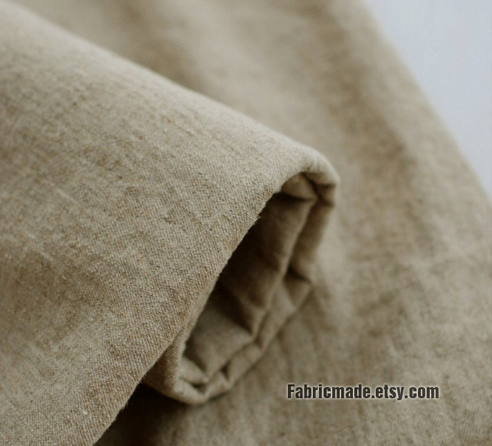 Home Decor Fabric Solid Washed Natural Linen Cotton Fabric