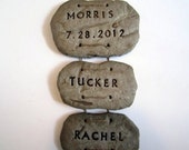 Custom Rock Hanging Family Sign, Family Names, Wedding Gift