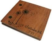 """Wedding Wooden Album - Scrapbook  Wood Burnt  12"""" x 12"""" - With Wedding Date"""