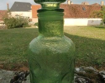 Vintage french 1950 Bottle green liquor