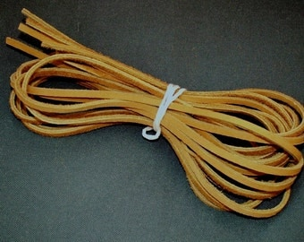 "8 Strips of Tan Leather Lace, 8 Leather strips, Each Lace is 28"", Leather Lacing, Boot Lace"