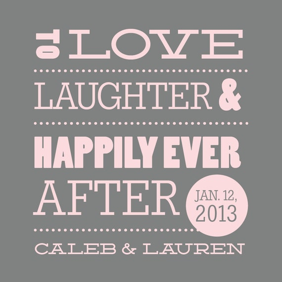 Wedding Koozie Love Laughter Amp Happily Ever After Stacked