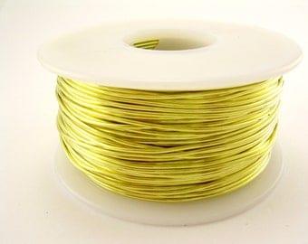 18Ga 1/4 Lb. 55 Ft. Yellow  Brass Soft Raw Solid Round Brass Wire