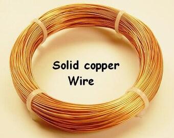 28ga 3 oz  400 ft COPPER CRAFT  WIRE  ( Half Hard) solid bright copper wire