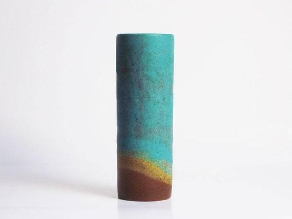 Mid Century Modern cylinder vase (West German Pottery)