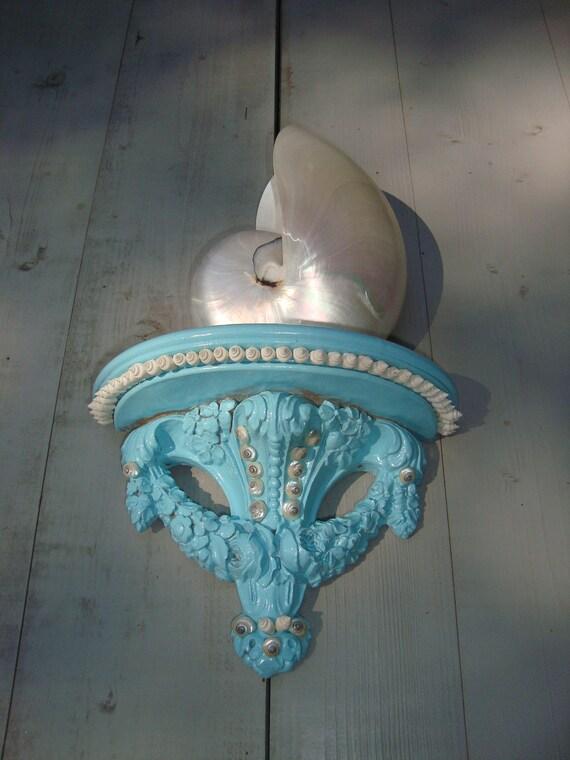 Seashell Wall Bracket/ Cottage Chic