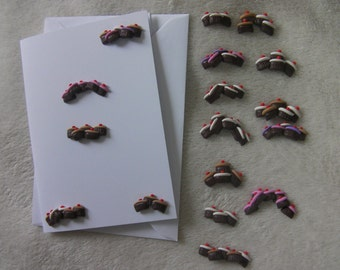 Assorted Cup Cake embellishments for card making