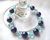 """RESERVED for ANNIE -- Beautiful """"Shades of Blue"""" Bracelet"""
