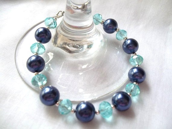 "RESERVED for ANNIE -- Beautiful ""Shades of Blue"" Bracelet"