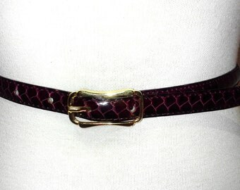 Purple Belt, Women's Belt, NOS Snakeskin Belt, CLEARANCE, Brand NEW Vintage Handmade Purple Snakeskin and Leather Belt, Handmade Belt