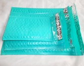 27 Total of 3 Assorted Sizes 8.5x12, 6x9, and 4x8 Teal Poly Bubble Mailers 9 of Each  Self Adhesive Shipping Padded Mailers