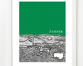 Pomona, California Print - Pomona Skyline Poster - Gift for University Student -