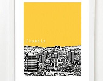 Phoenix Arizona Skyline Poster - Phoenix Art Print - Phoenix, AZ - VERSION 2