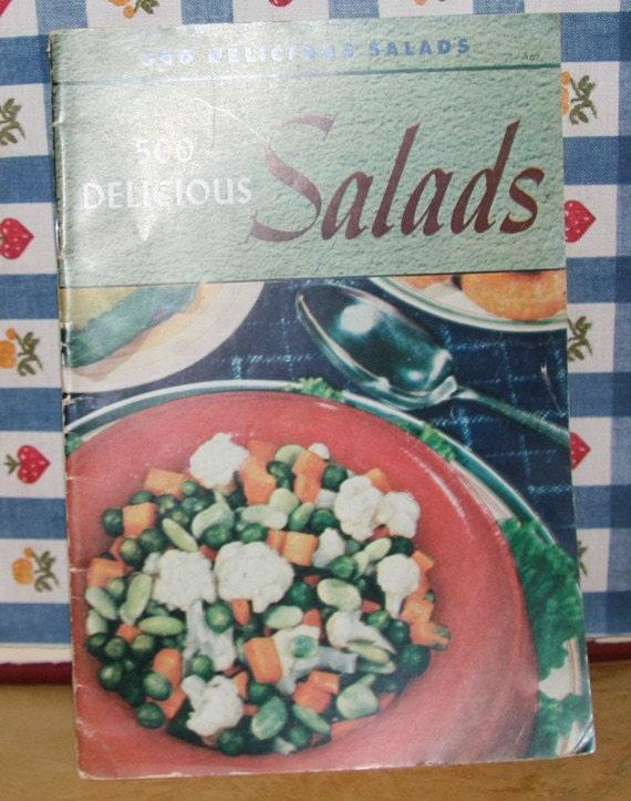 Vintage Cookbook / Culinary Arts Institute Recipe Book 500 Delicious Salads 1941
