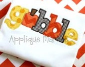 Personalized appliqued Gobble tshirt or onesie.