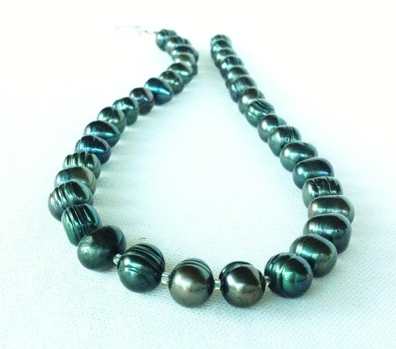 freshwater pearl necklace green pearl necklace
