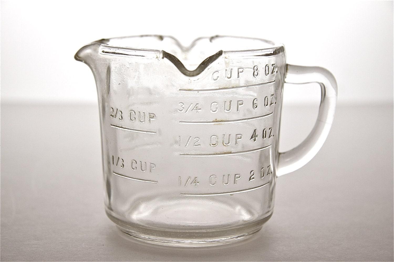 3 Spout Glass Measuring Cup Vintage