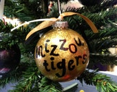 Hand-painted Mizzou Tigers Ornament