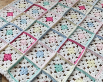 Pretty Pastel Blanket - Instant Download PDF Crochet Pattern
