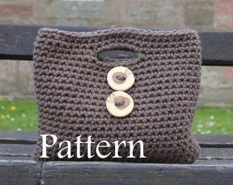 CROCHET PATTERN - Ladies Two button Clutch Purse - Listing22