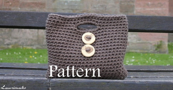 CROCHET PATTERN - Ladies Two button Clutch Purse - Listing22