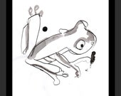 Frog Hand Painted - Animal Art Nature