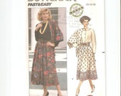 UNCUT Butterick Sewing Pattern 4231 for Skirt and Scarf, Sz 14-16-18, 1980s