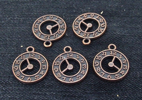 10Beads  Charm maple leaf Pendant  Copper  Plated Victorian Pendants Beads ----- 18mmx21mm ----- 10Pieces 2E