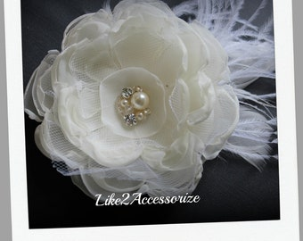 Ivory Wedding Flower Hair Clip Bridal Hair Accessories Wedding Hair Accessories Wedding Hair Fascinator Wedding Headpiece Bridal Hair Flower