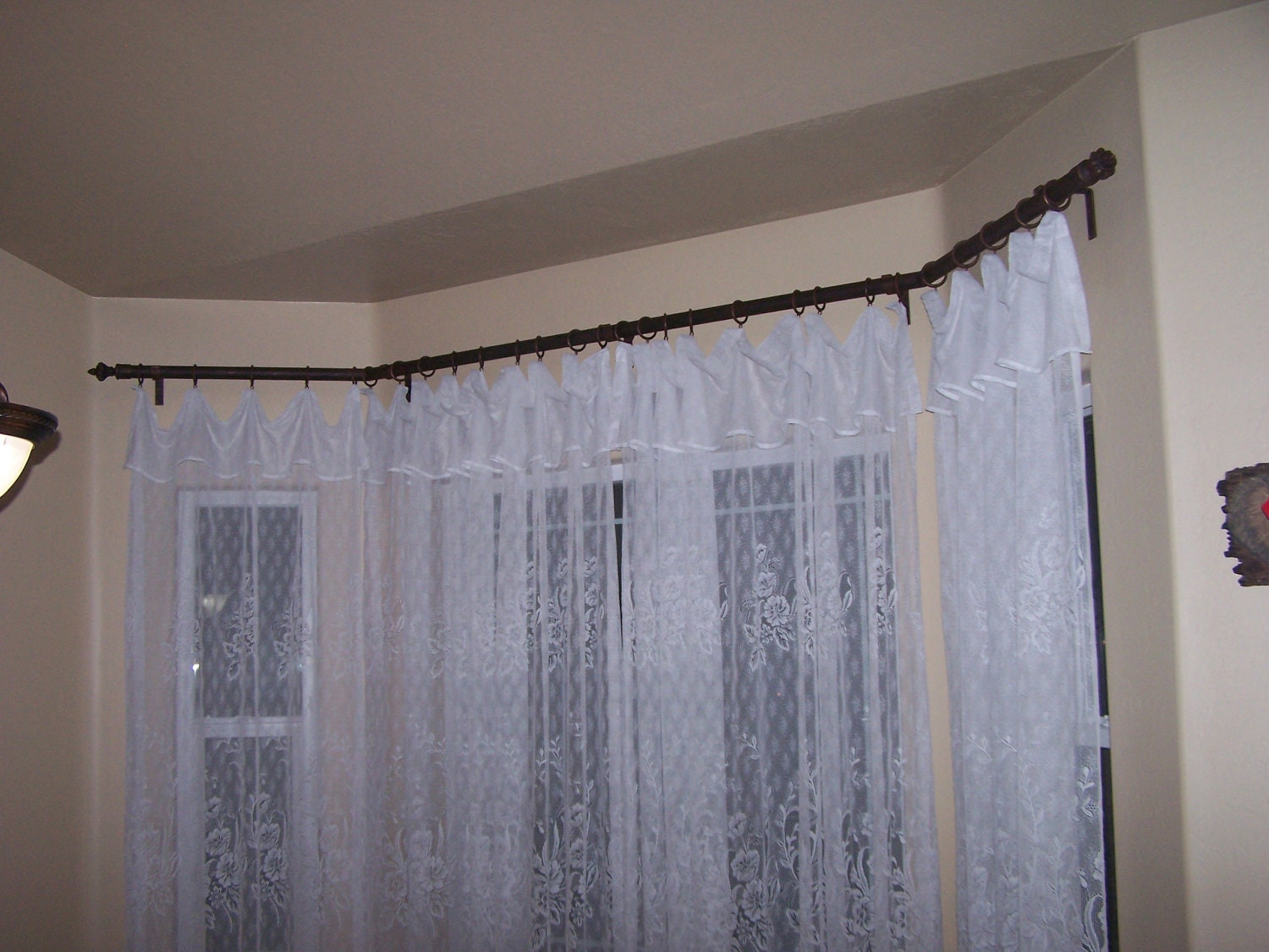Custom Made Bay Window Rod Wrought Iron Bay Drapery Curtain