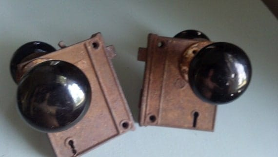 Reserved for r rodocker Antique door lock sets without knobs