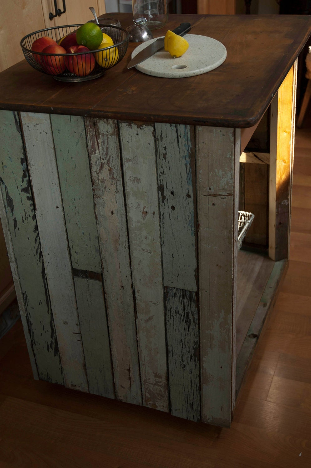 Handmade Kitchen Islands: Handmade Reclaimed Wood Industrial Kitchen Island Table