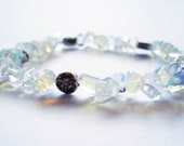 Moonstone and Silver Celtic Flower Bracelet