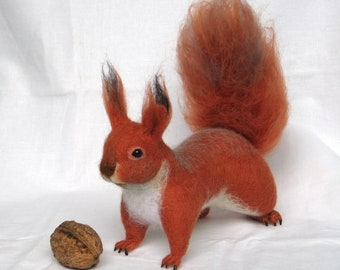 "Felt toy ""Squirrel""... I will make this item for your order"