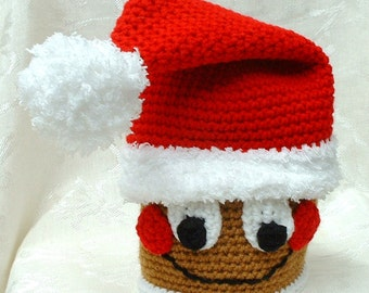 Gingy the Santa Gingerbread Hat - Crochet