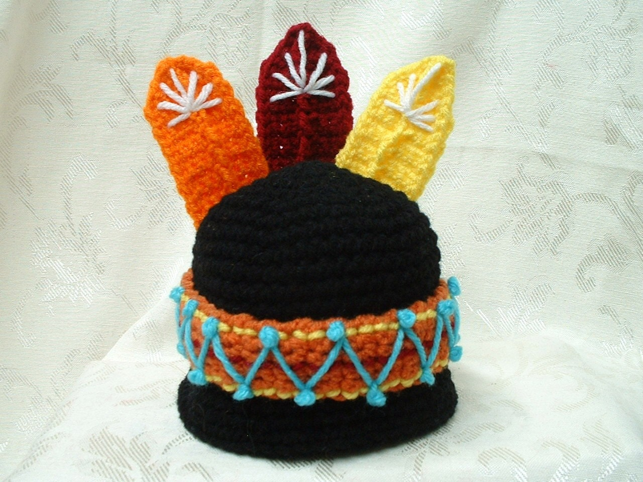 Lil indian boy girl hat pattern crochet for Indian hat template
