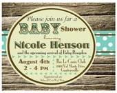 Rustic Baby Shower Invitation