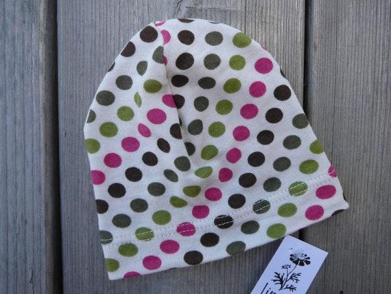 Organic Baby Hat. Newborn stocking stuffer. Size- newborn. Colors- green, pink, brown.  - Ready to ship -      (Made by lippybrand)