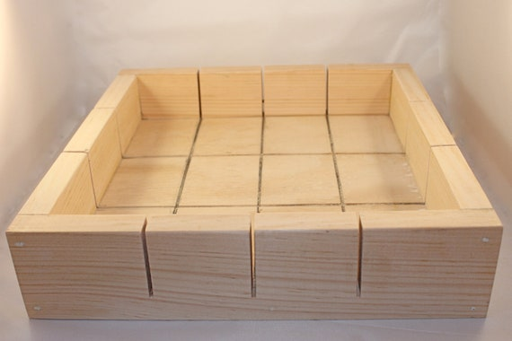 5 Lb Professionally Handcrafted Wooden Soap Mold Slab/Tray Style with Lid