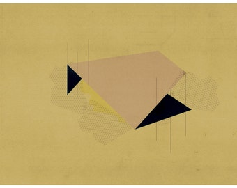 Abstract collage - modern geometric abstract art