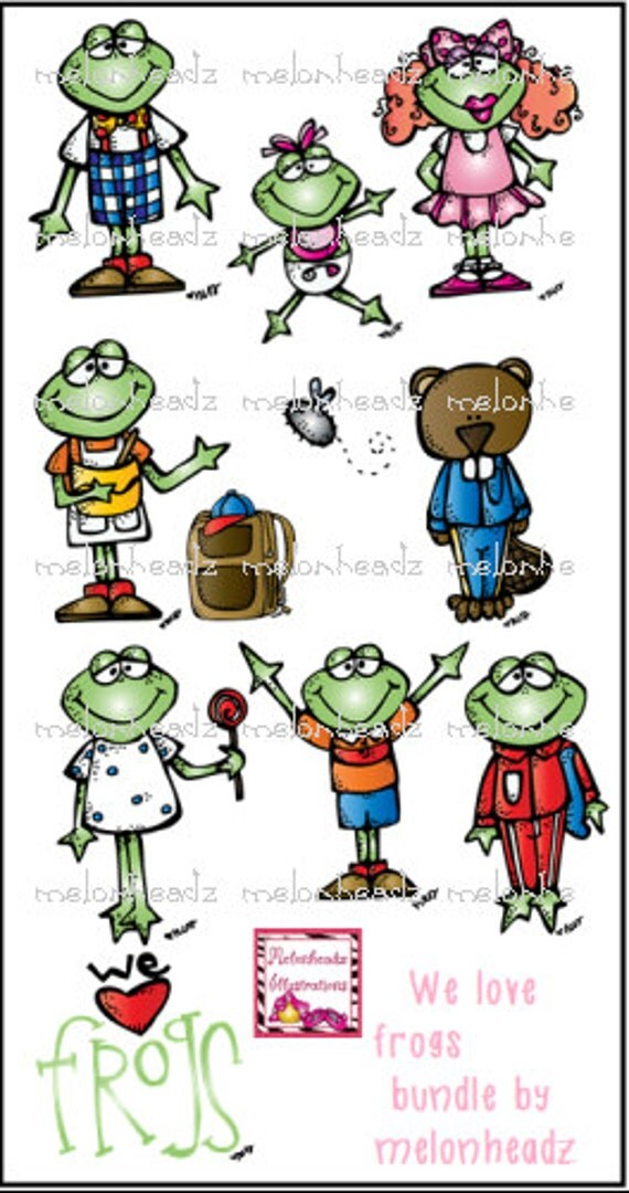 We love Frogs bundle