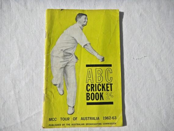 Cricket Tour of Australia Book 1962-63 - Vintage Cricket Memorabilia - British and Australian Cricket Souvenir, Vintage